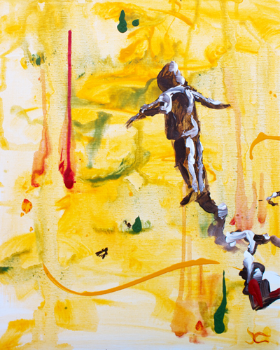 Leap > 16x20 inch Acrylic Painting on canvas