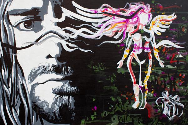 Something > 36x24 inch Acrylic Painting on wood