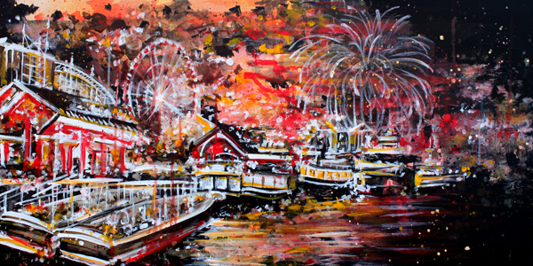 3.1.16  > Impression Three > 48x24 inch Acrylic Painting on canvas > CLICK IMAGE TO PURCHASE