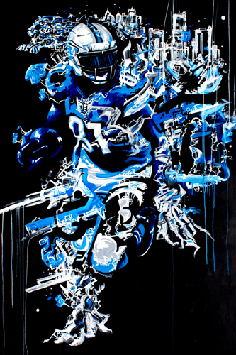 Eighty One > 48x72 inch Acrylic Painting on canvas