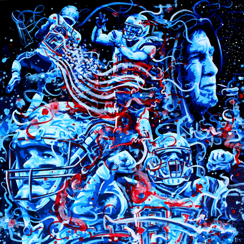 4.19.16   > Two Thousand And Fourteen > 24x24 inch Acrylic Painting on canvas > CLICK IMAGE TO PURCHASE