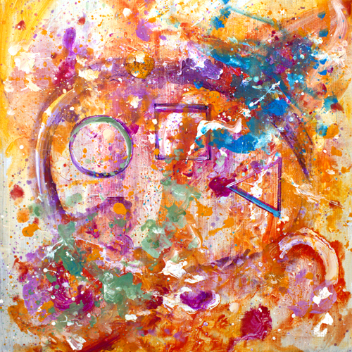 1.7.18  > Universe Of One > 36x36 inch Acrylic Painting on canvas > CLICK IMAGE TO PURCHASE