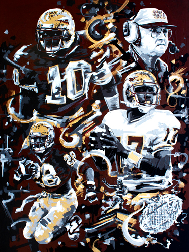 1993 > 36x48 inch Acrylic Painting on canvas