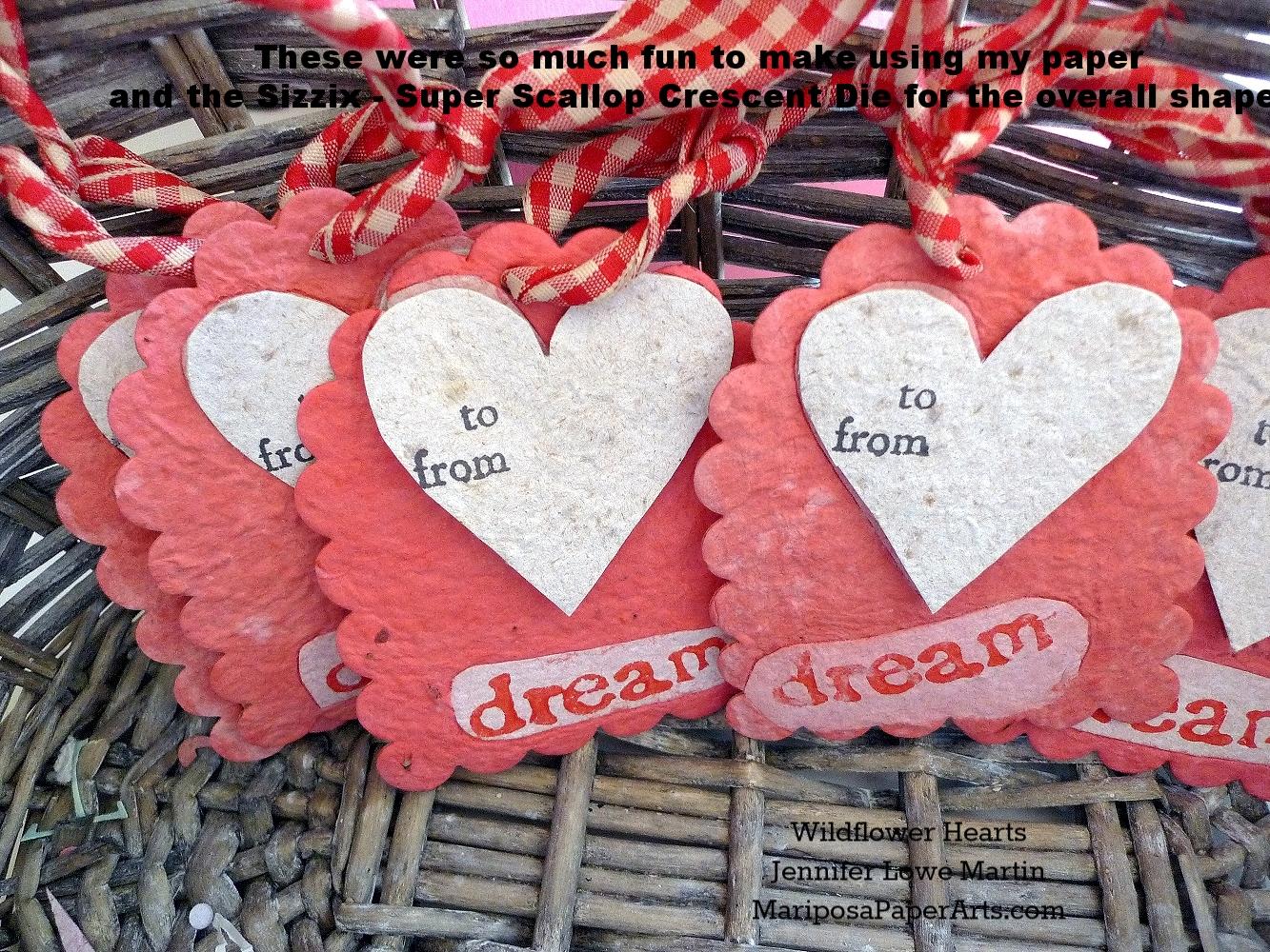 Plantable Paper Dream Heart Favors