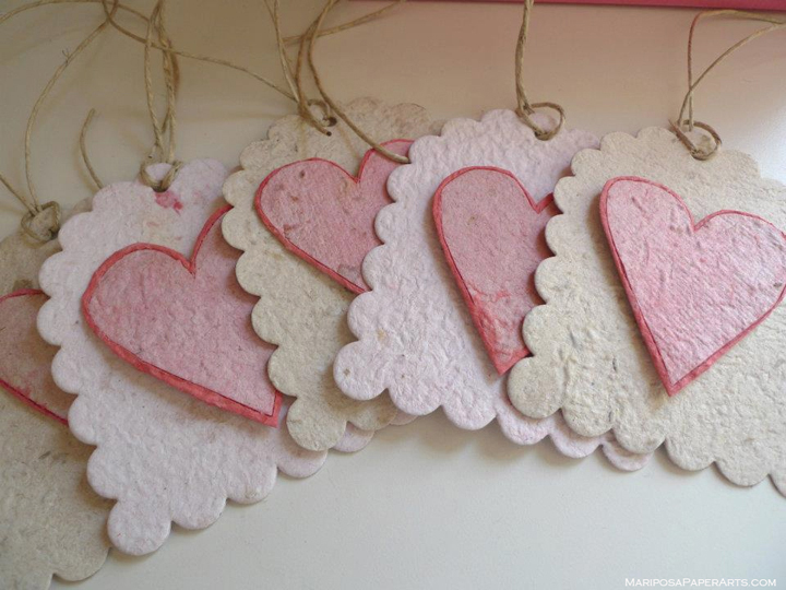 Wildflower Plantable Paper Heart Tags