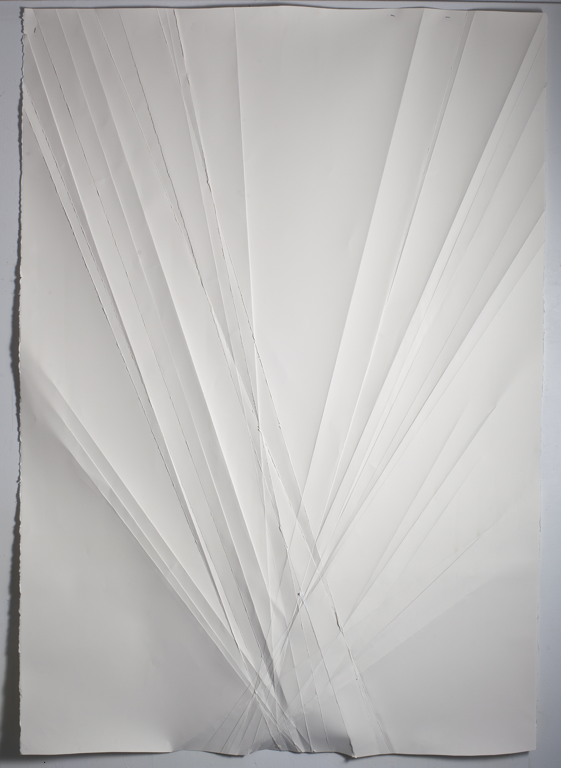 Untitled, 2014, folded paper, 50 x 70 inches