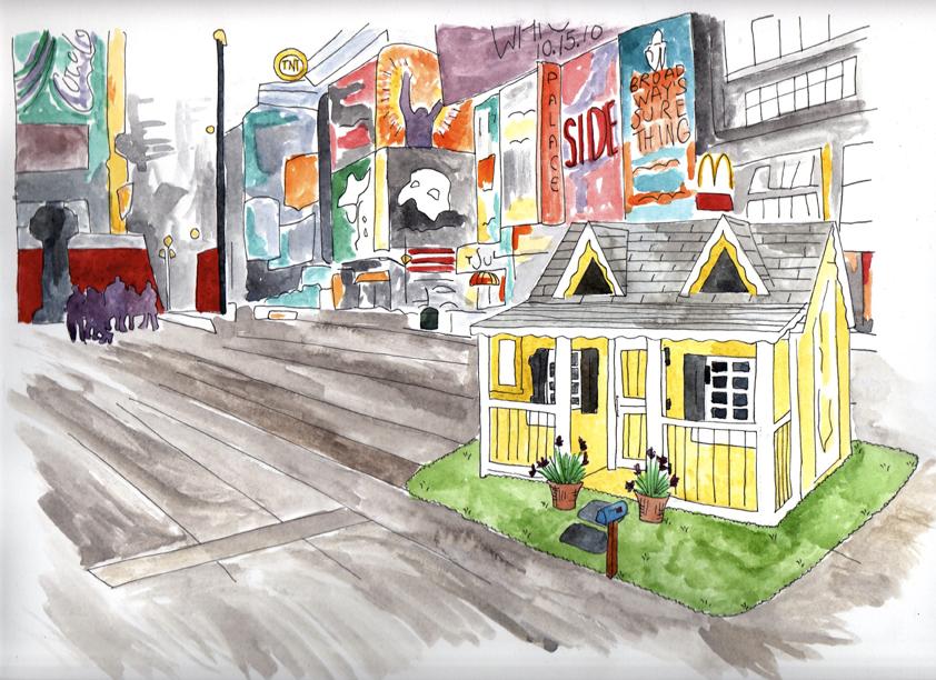 Rent-a-Grandma concept for Times Square