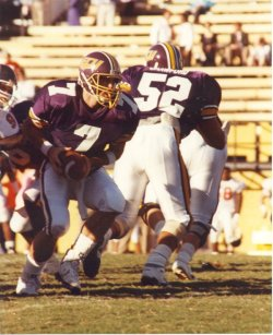 Quarterback Chad Grier (7) might be best remembered as Jeff Blake's backup at East Carolina.