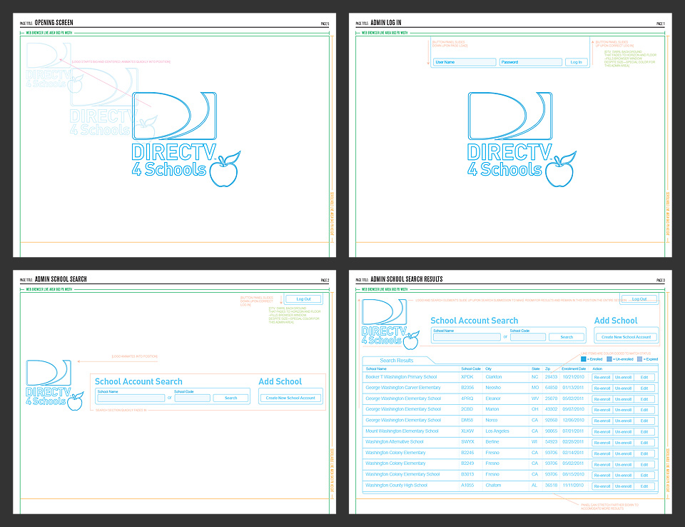 UX Wireframes for Admin Workflow