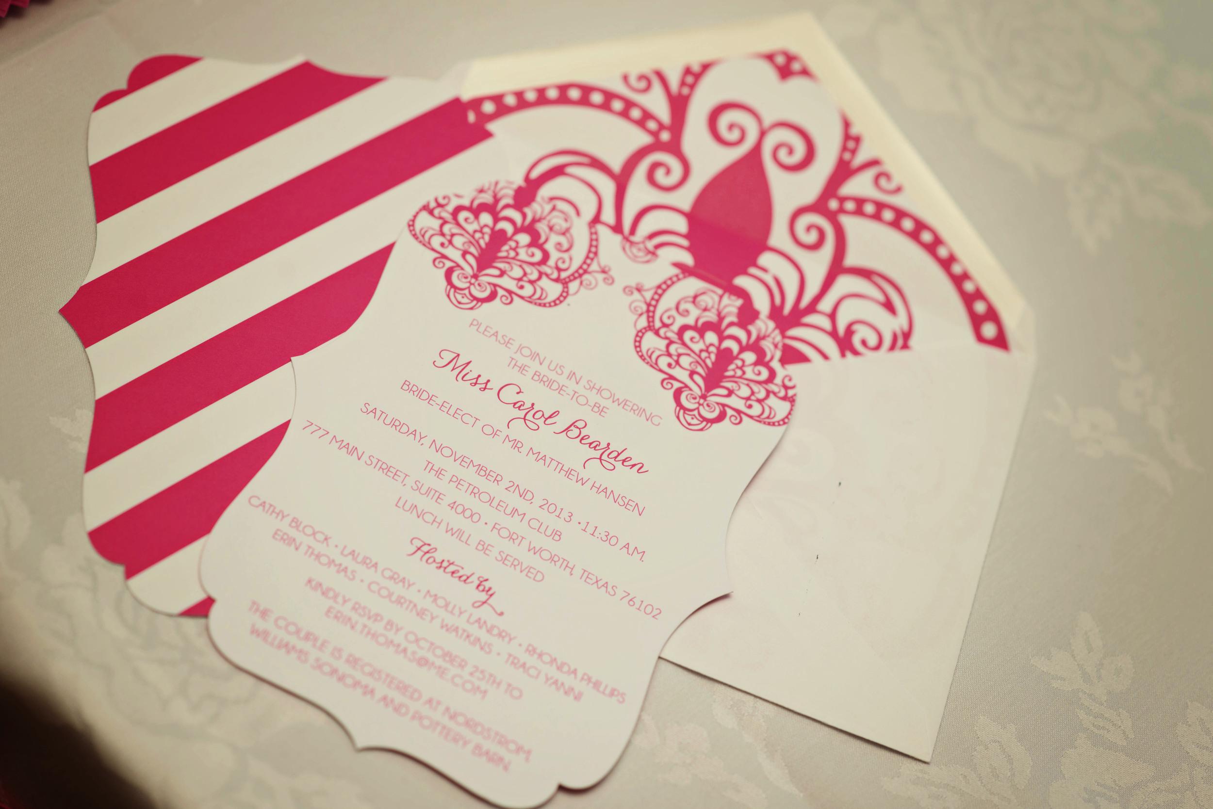 custom diecut invitation