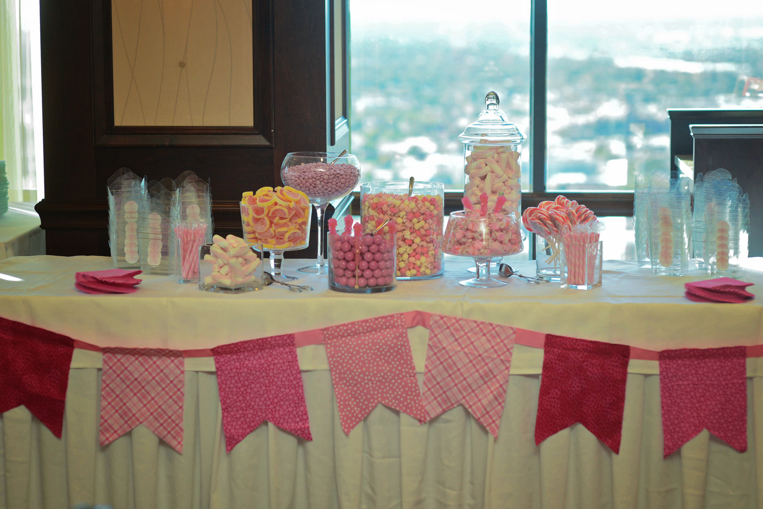 candy bar in all pink