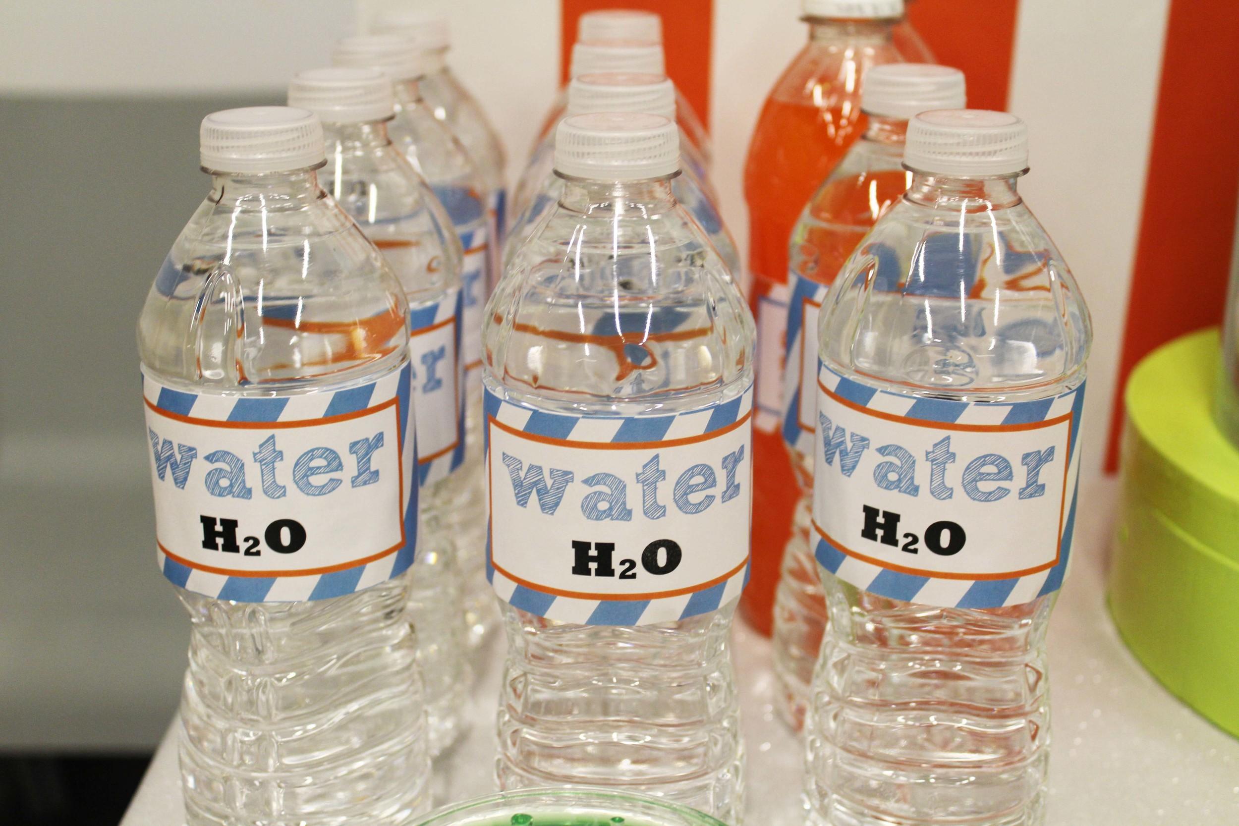 custom labels water bottle birthday