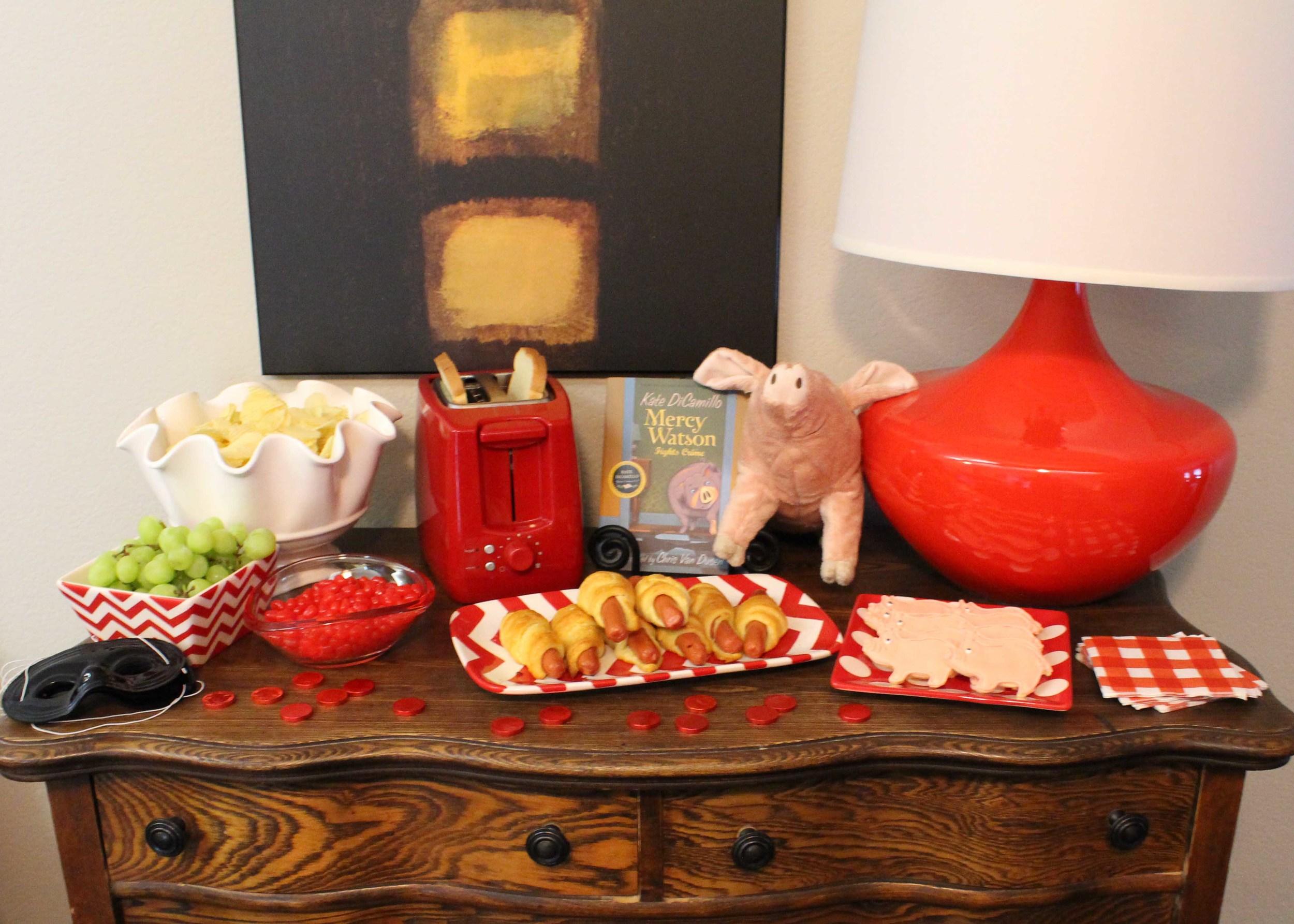 food table book club custom