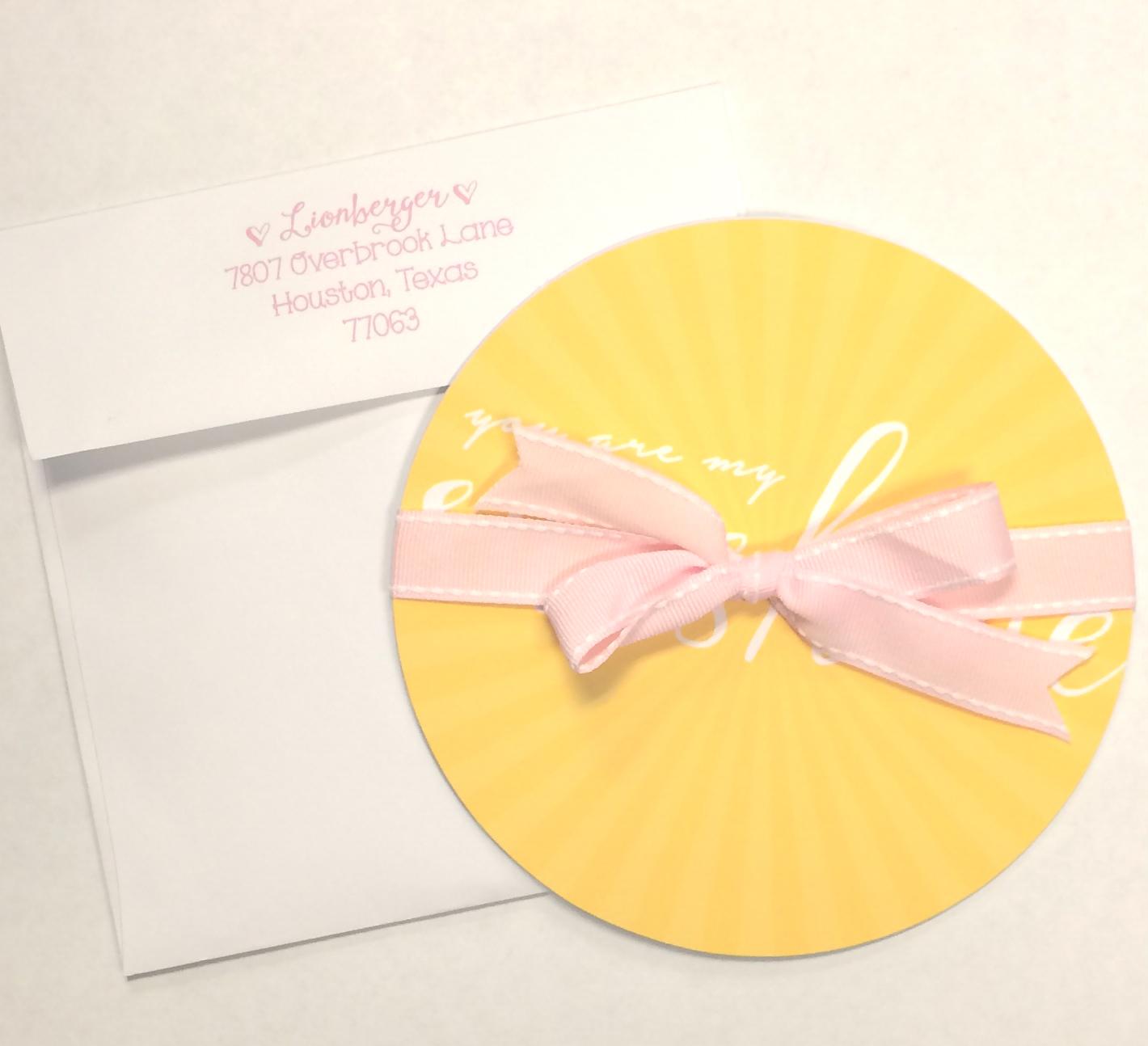 sunshine invite custom