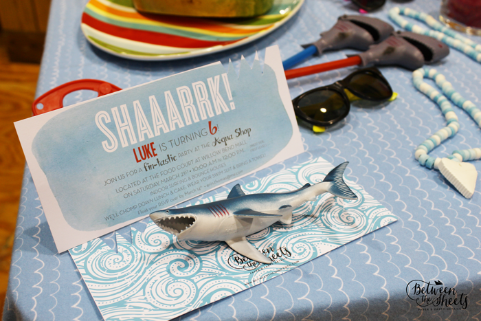 custom invitation shark 3D cutout
