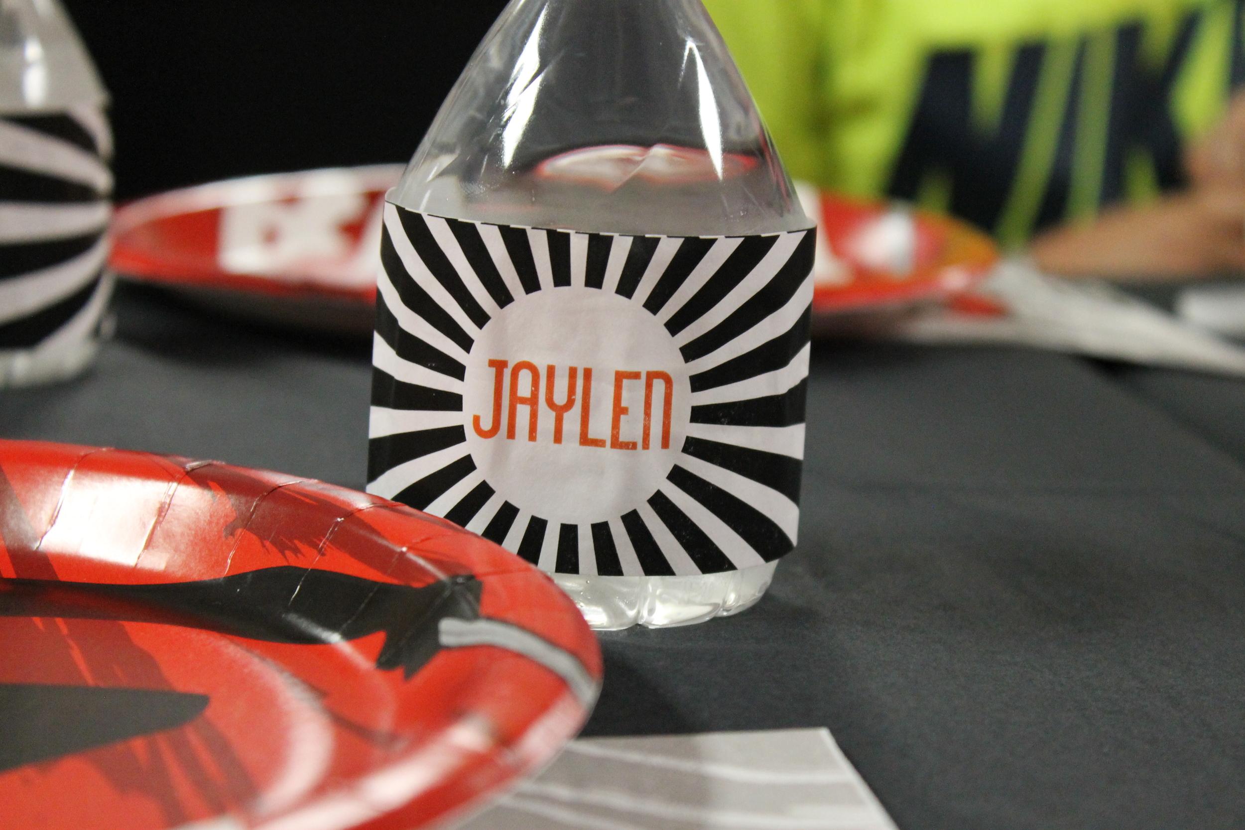 water bottle label custom