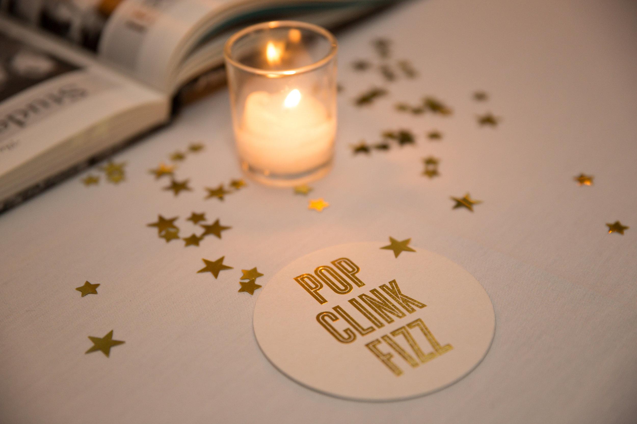 coaster gold foil