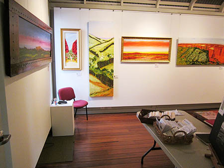 Macleay Valley Community Art Gallery, from the Entrance doors