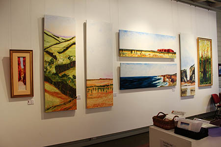 Macleay Valley Community Art Gallery, front room , north wall