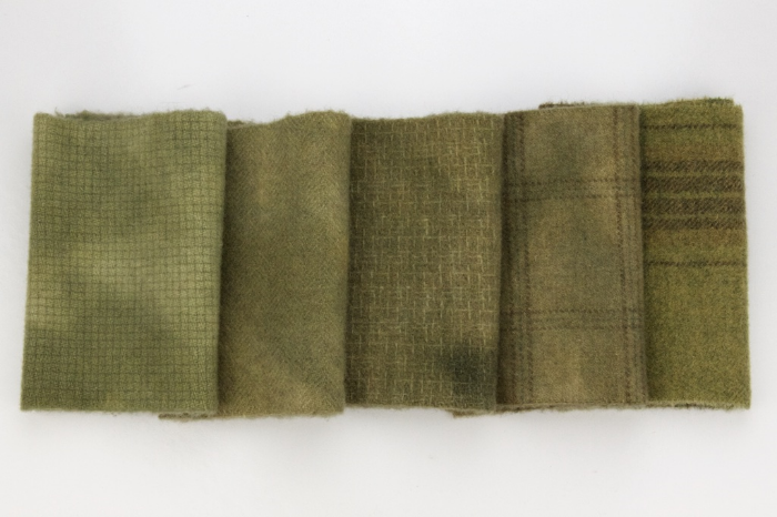 Vintage Green Wool Fabric
