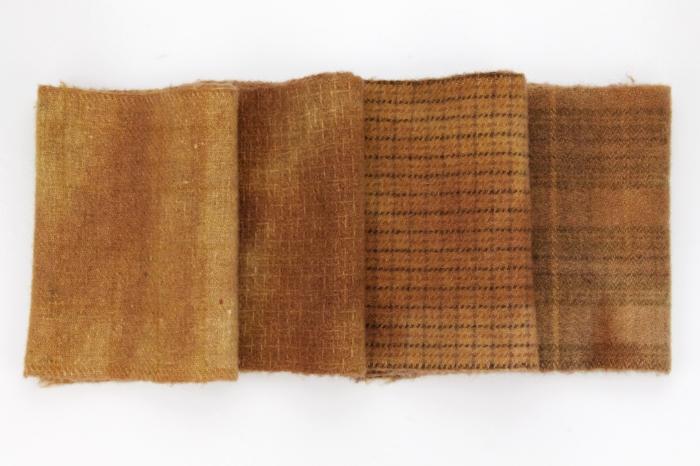 Vintage Rust Wool Fabric