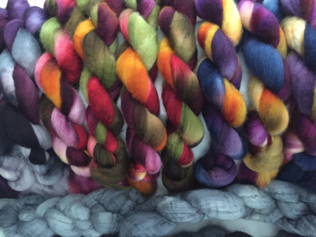 BFL rovings ready spinning