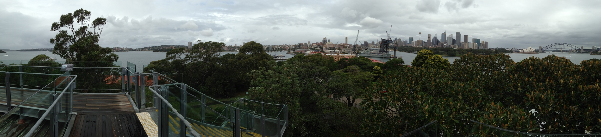 View from the ex-Main Signal Building on Garden Island. Click on the photo to make it larger.