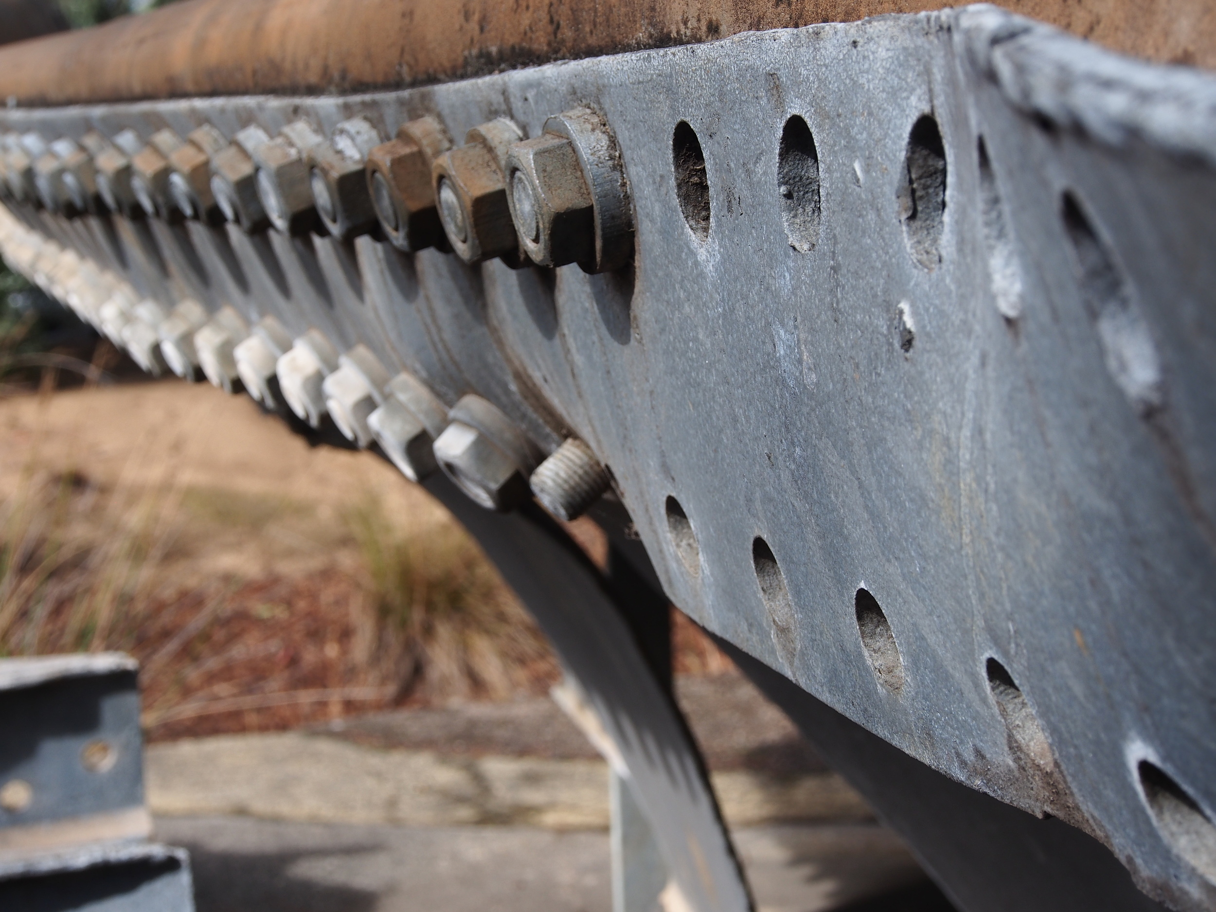 A section of the West Gate Bridge where bolt removal was taking place at the time of the collapse