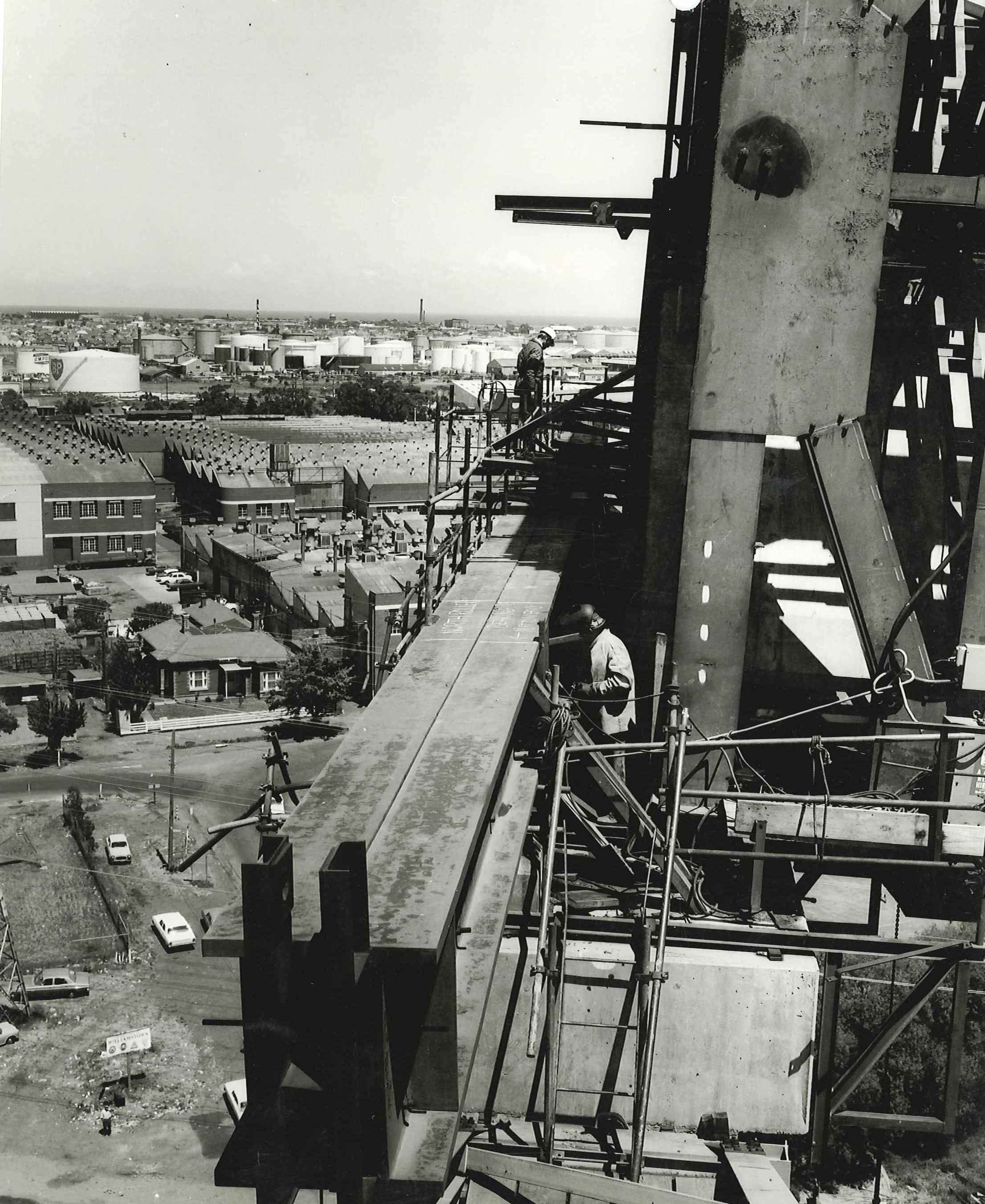 View from the West Gate Bridge prior to collapse