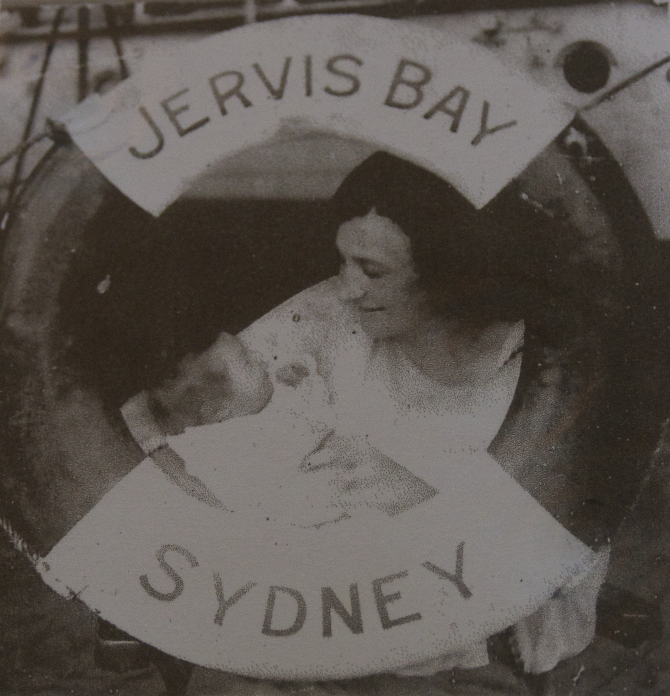 Jean and her mother Ella on board TSS  Jervis Bay  in 1922