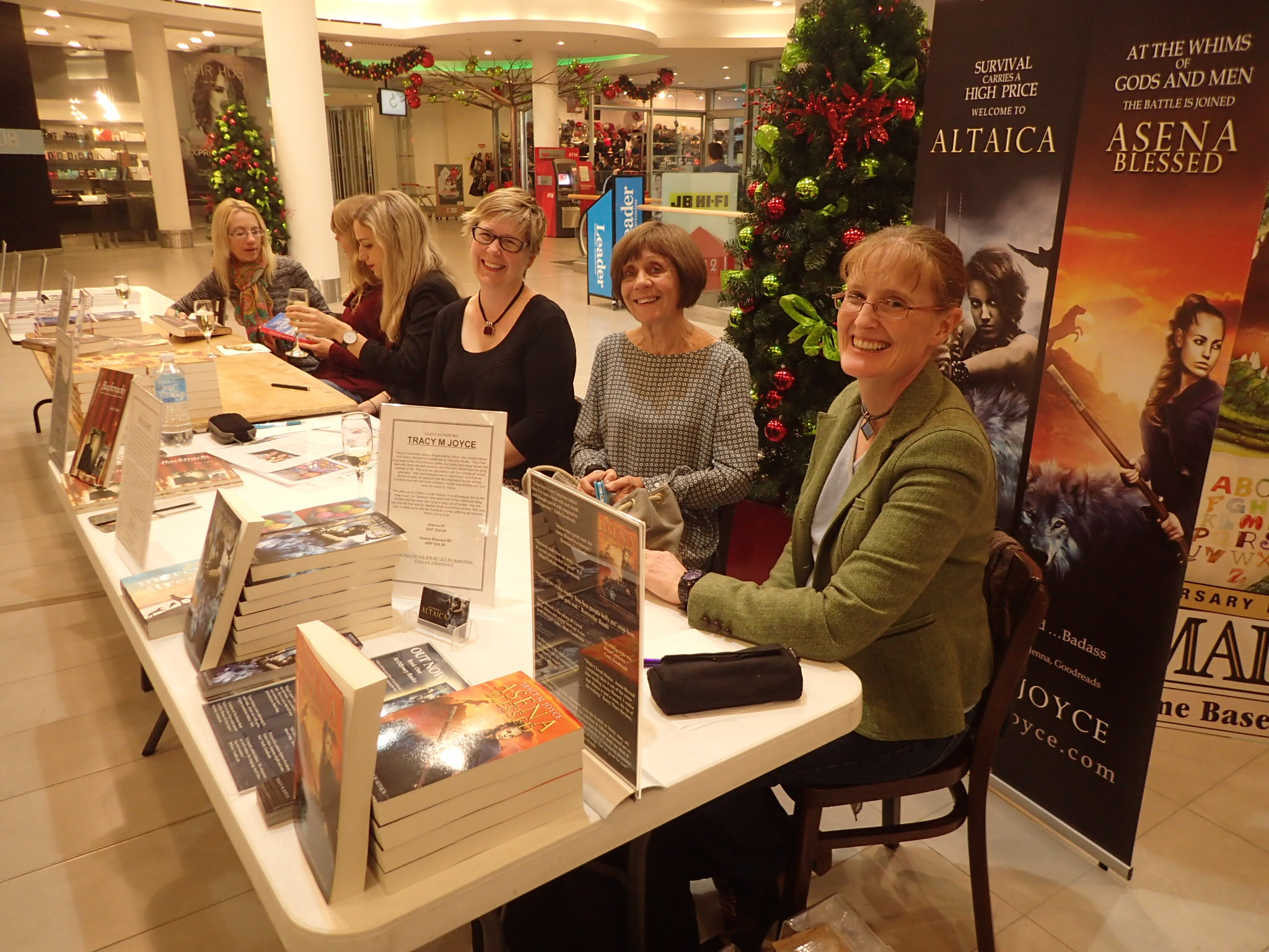 At the table with Tracy M Joyce, Tess Evans, Katherine Brabon, Leigh Hopkins and Emma Gee