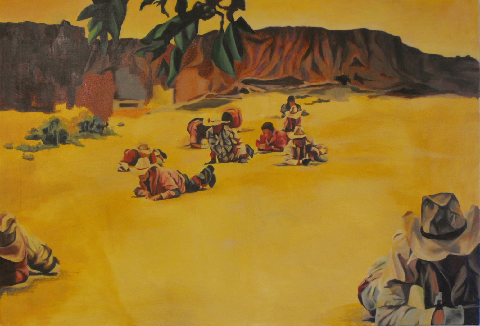 """Crawl"", Oil on canvas, 110x75, 2014"