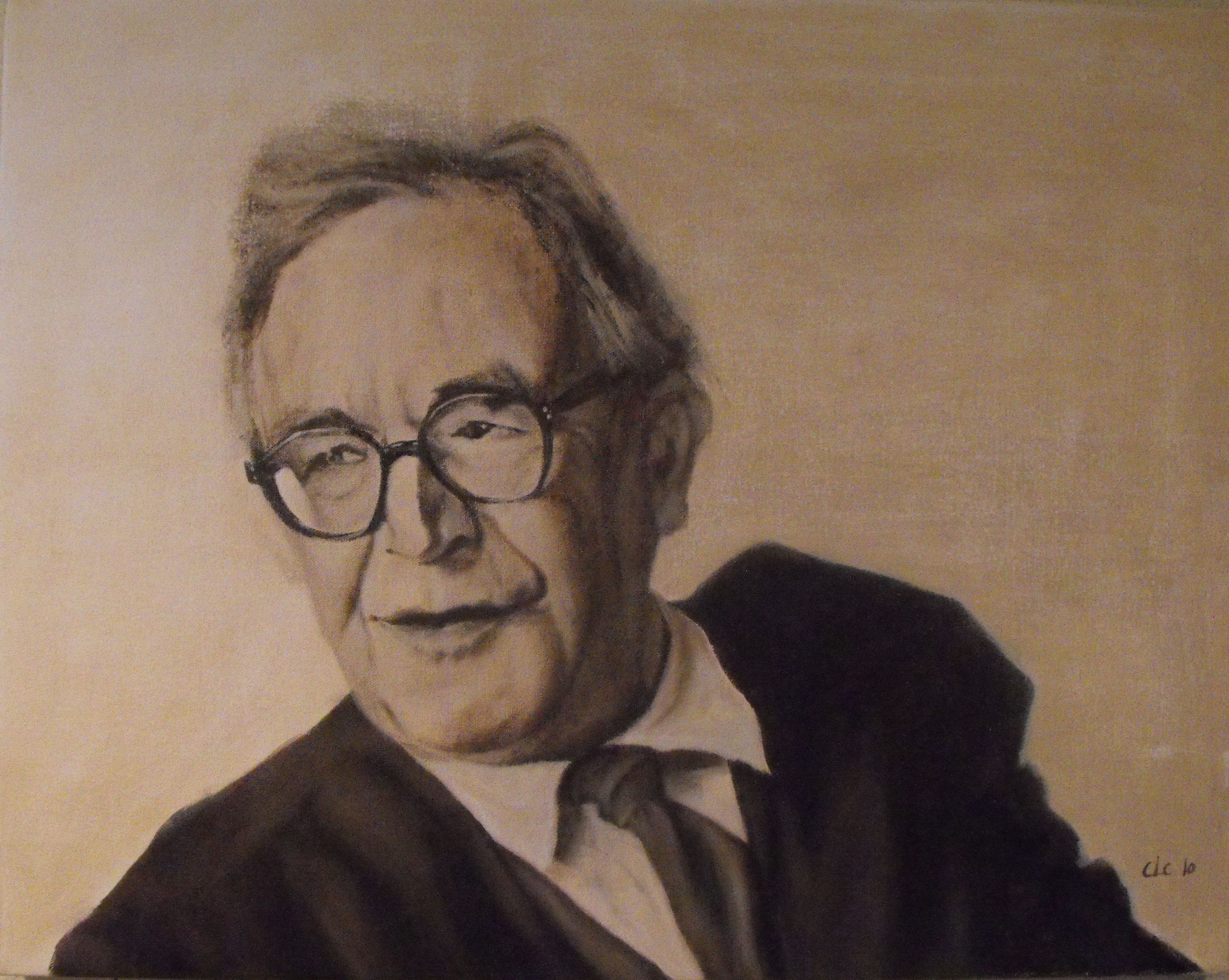 """Karl Barth"", Oil on canvas, 2009"