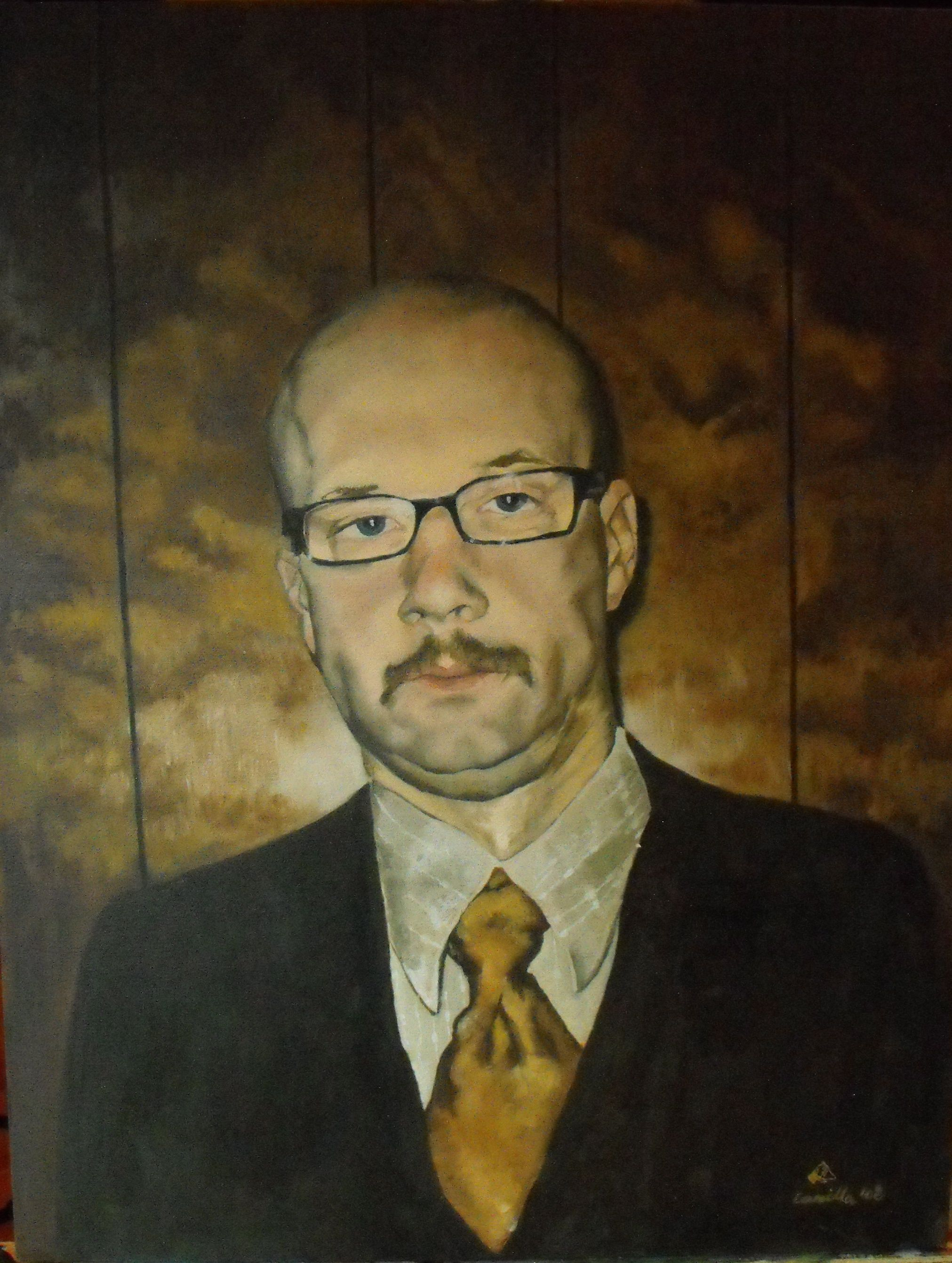 """Steve"", Oil on canvas, 2008"