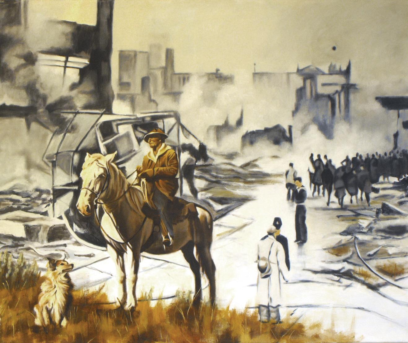 """Cowboy"", Oil on canvas, 120x100, 2013"