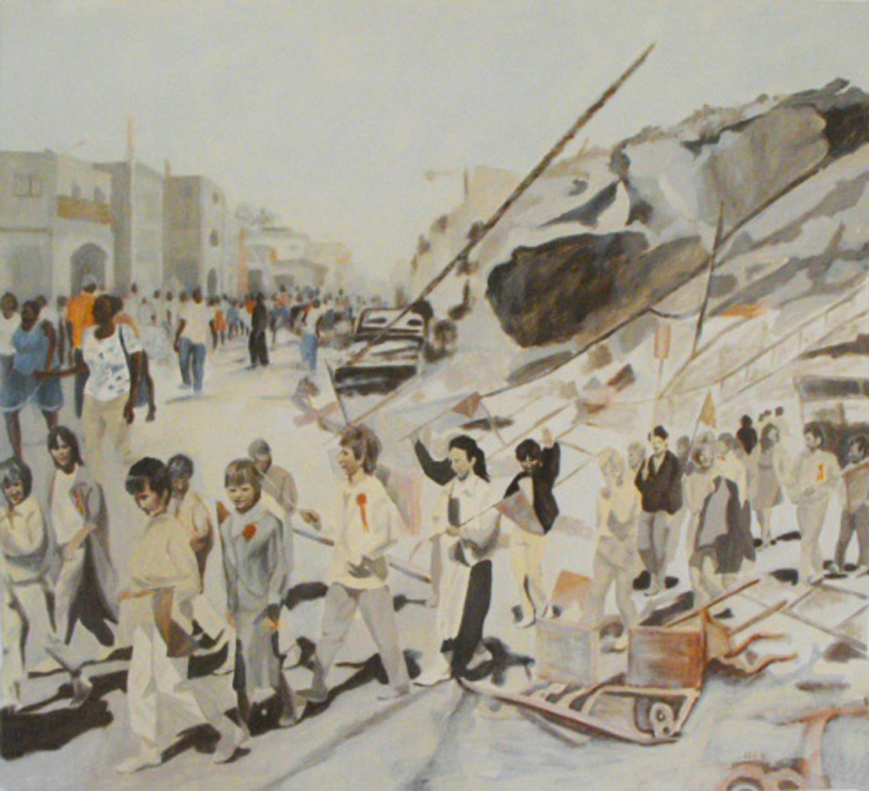 """Procession I"", Oil on canvas, 115x105, 2010"