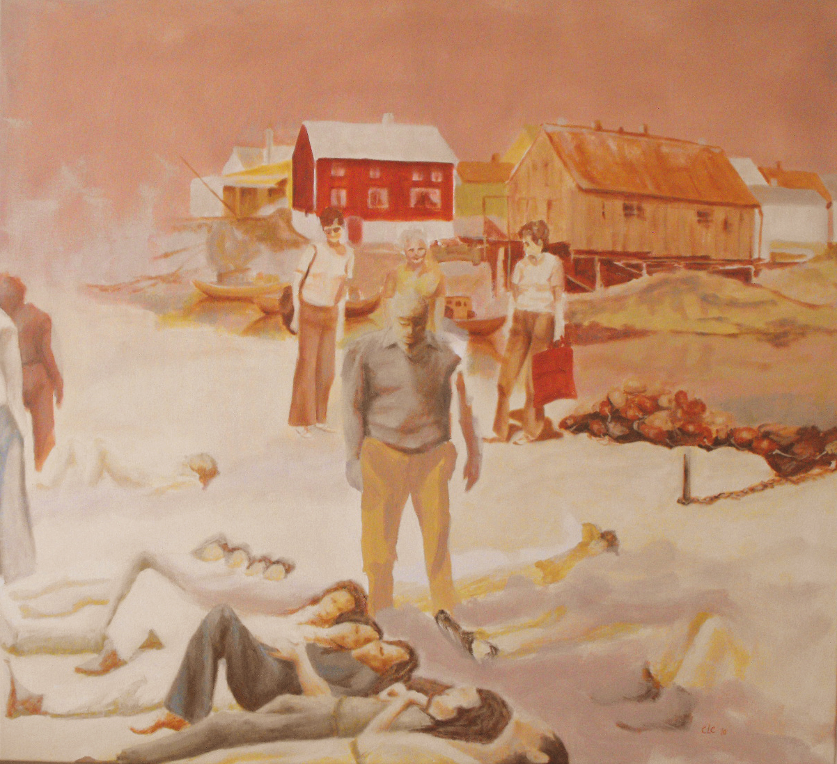 """Procession II"", Oil on canvas, 115x105, 2010"