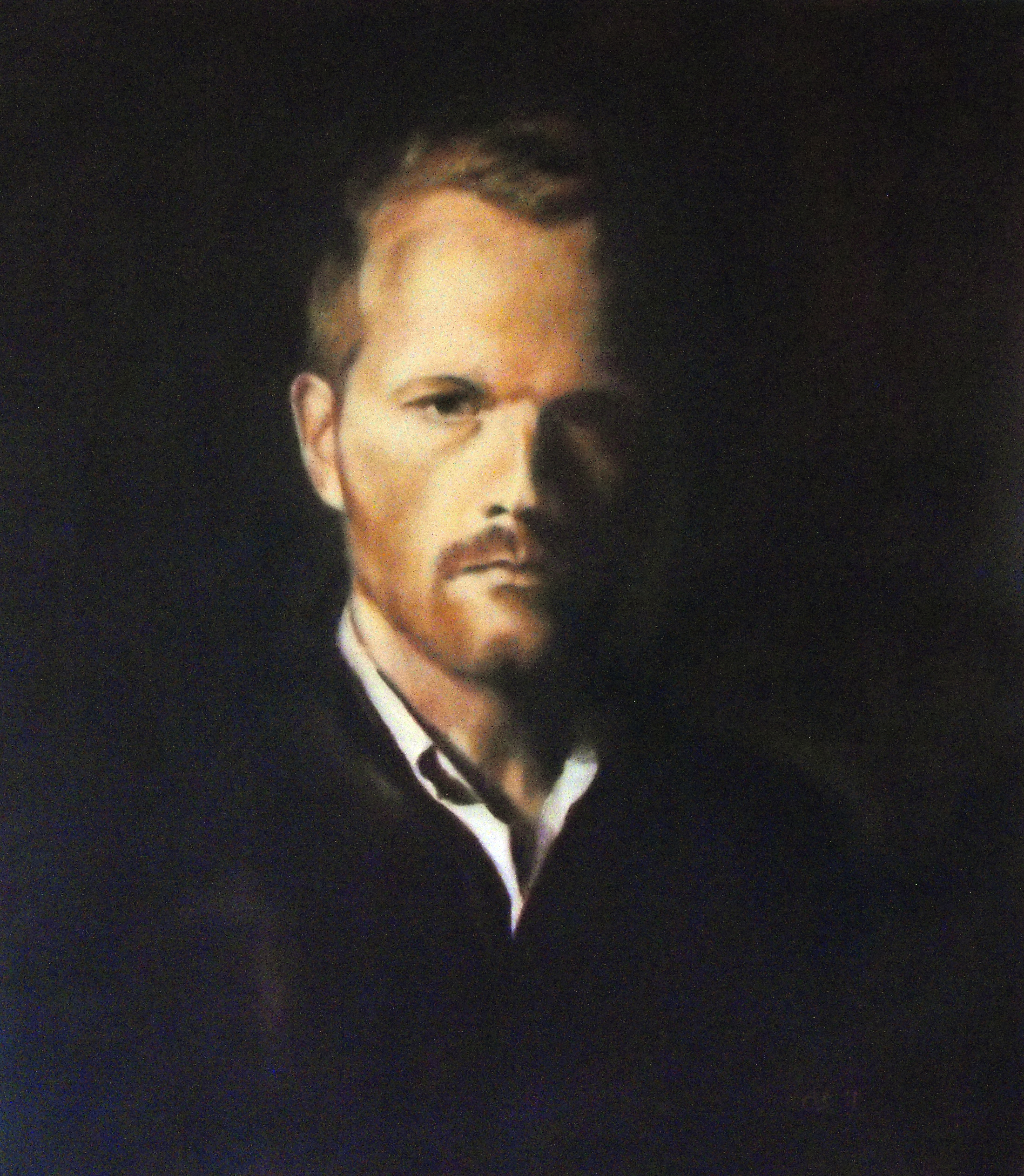 """Fredrik"", Oil on canvas, 61x70, 2011"