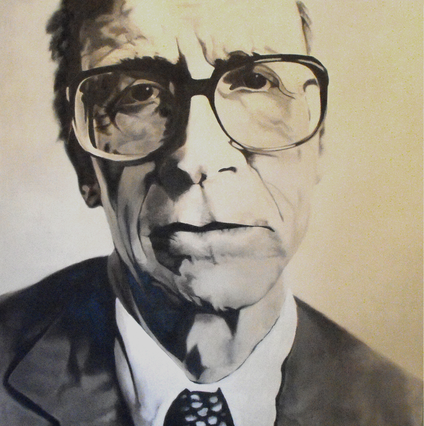"""John Rawls"", Oil on canvas, 2008"