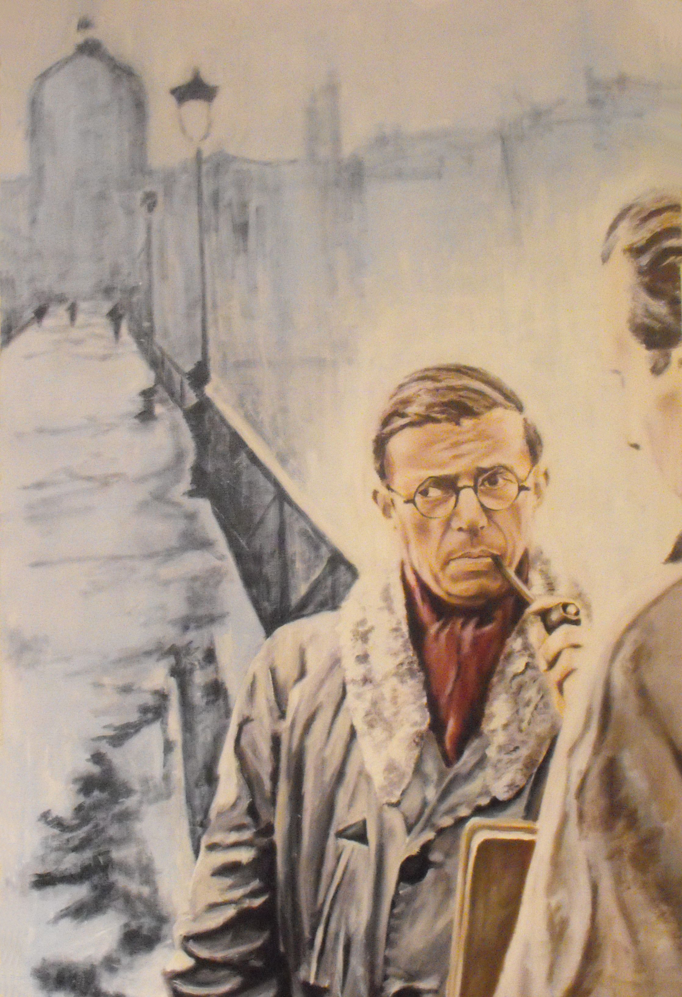 """Sartre"", Oil on canvas, 2009"