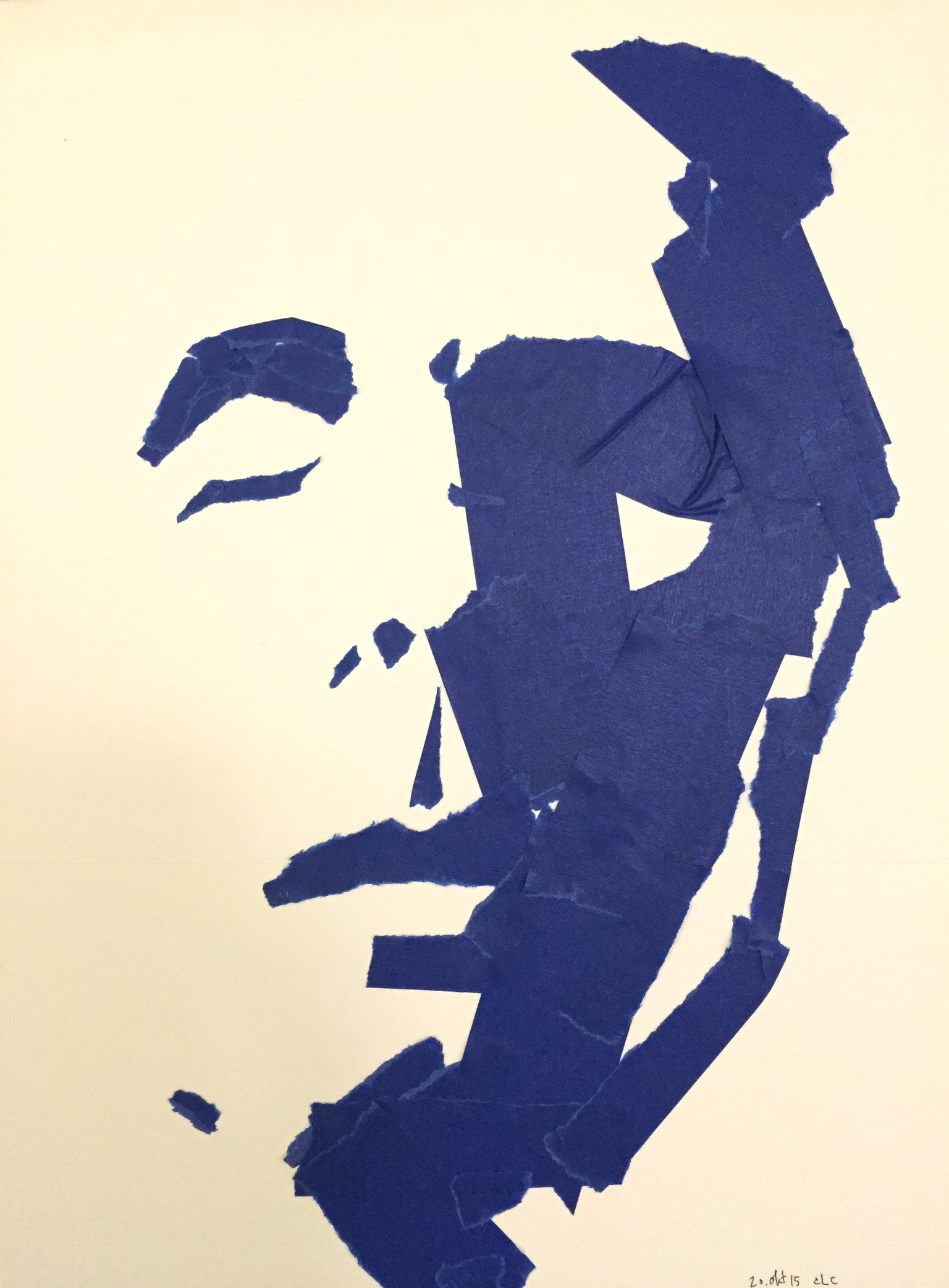 339/365. Self portrait with blue tape. No. XVII
