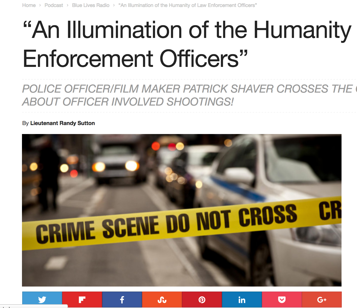 """""""An Illumination of the Humanity of Law Enforcement Officers""""   Blue Lives Radio"""