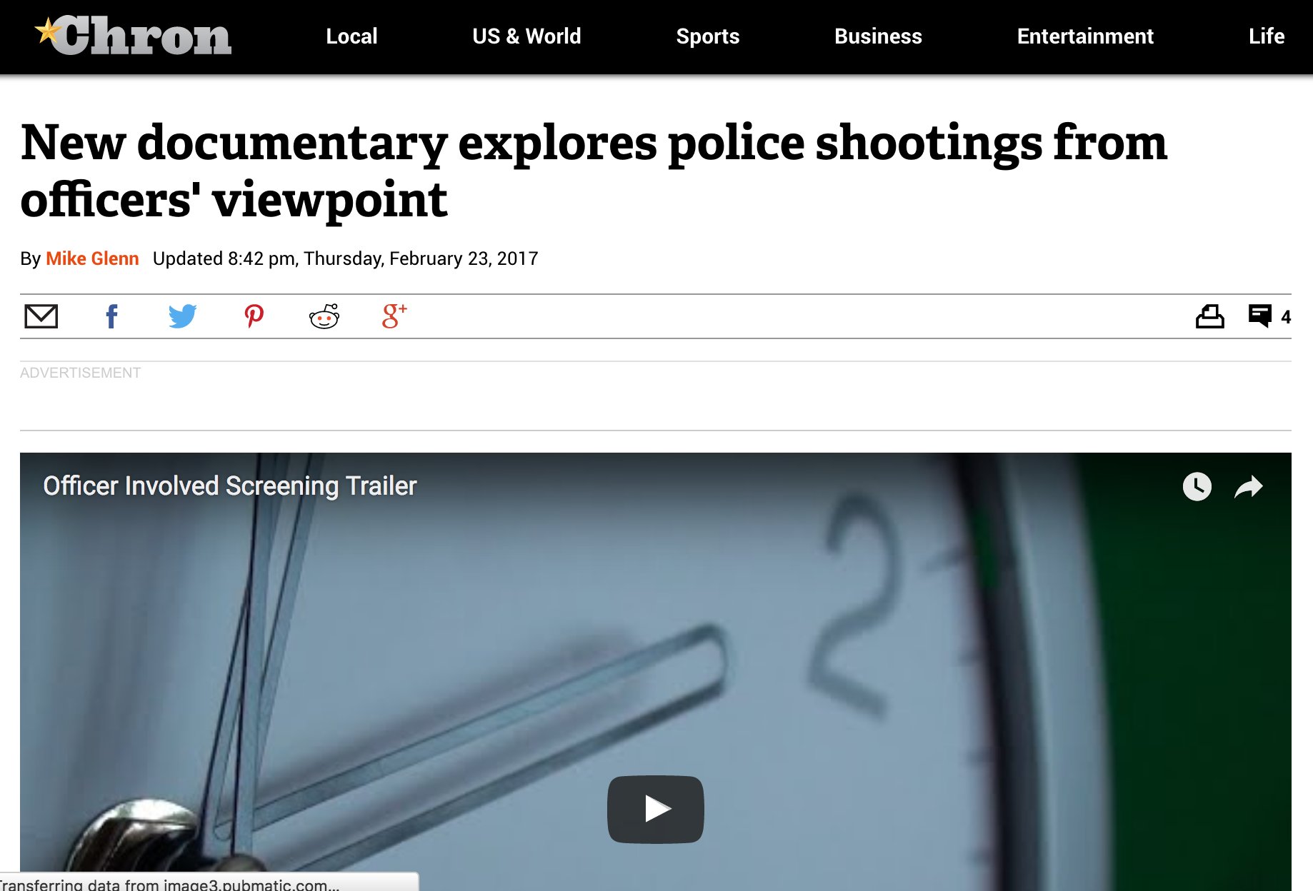 New documentary explores police shootings from officers' viewpoint    Houston Chronicle