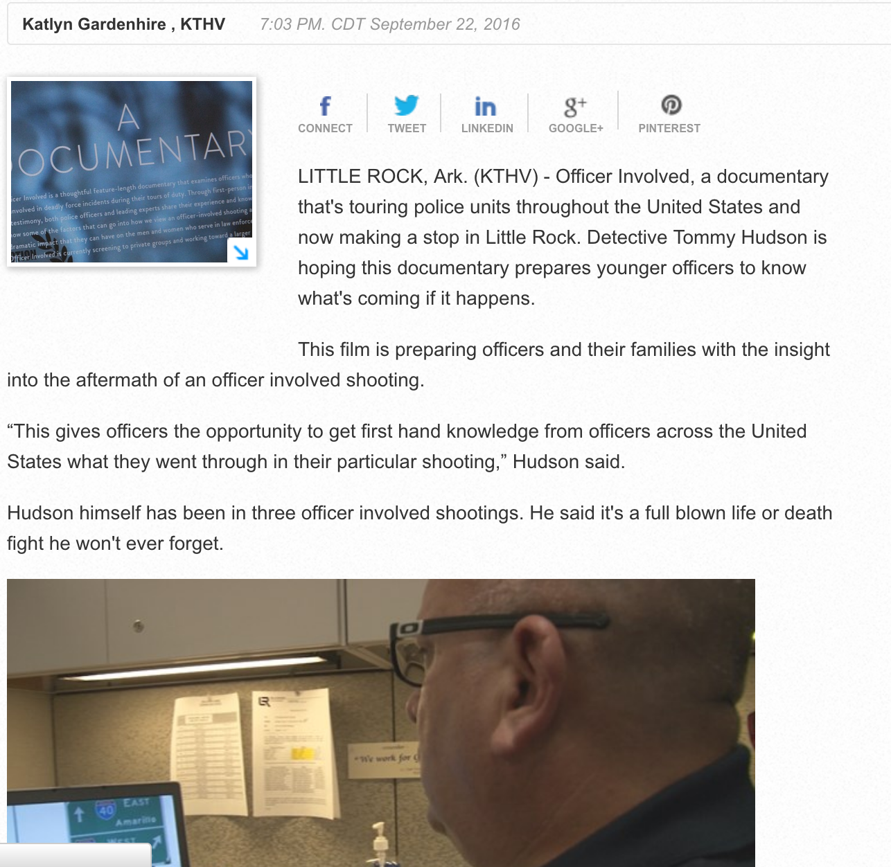 Little Rock police mentally prepare for shootings with documentary showing.   WKHTV