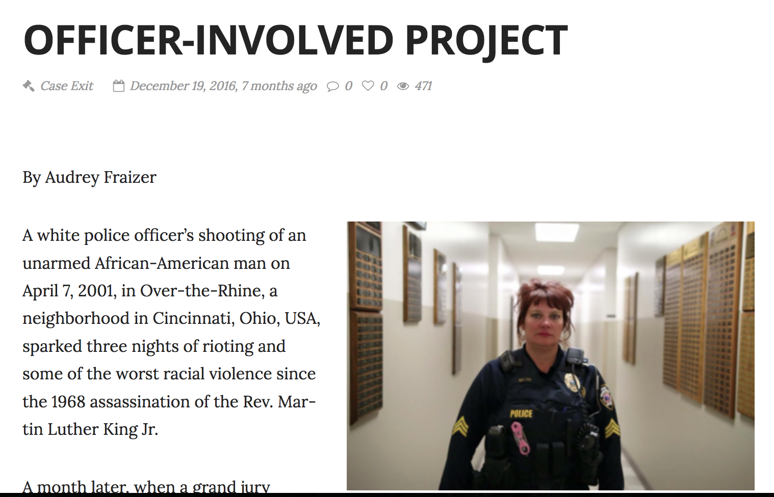 Officer-Involved Project   Journal of Emergency Dispatch
