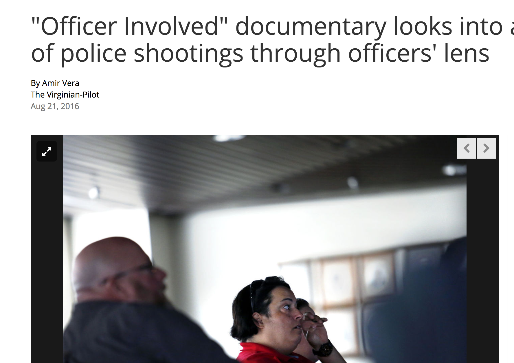 """""""Officer Involved"""" documentary looks into aftermath of police shootings through officers' lens   Virginian - Pilot"""