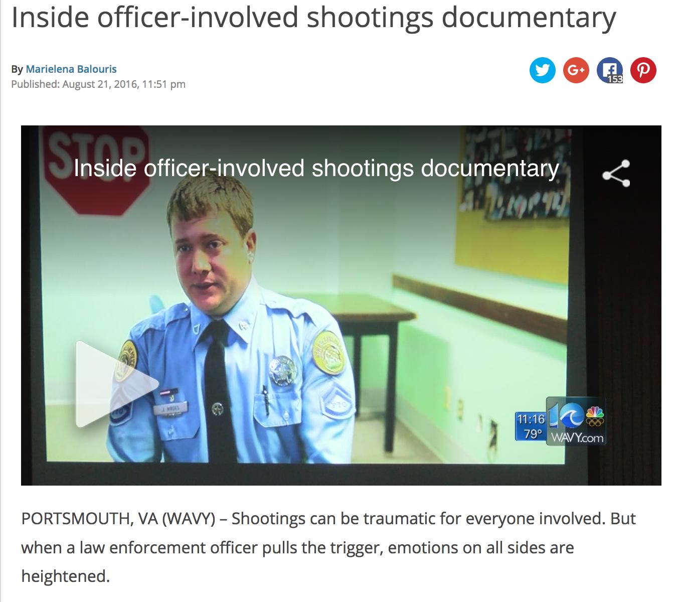 Inside officer-involved shootings documentary   WAVY TV