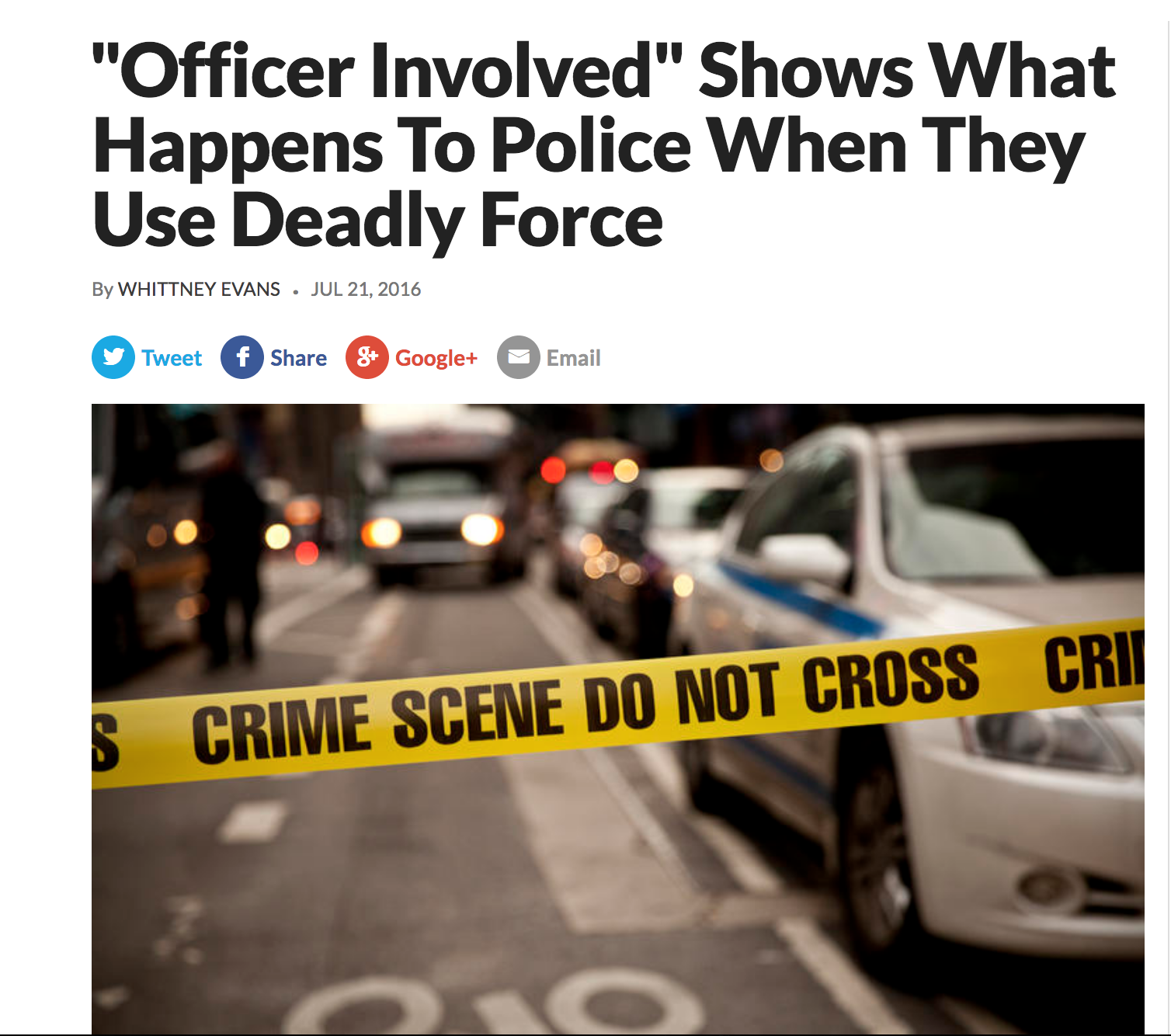 """""""Officer Involved"""" Shows What Happens To Police When They Use Deadly Force   KUER 90.1"""