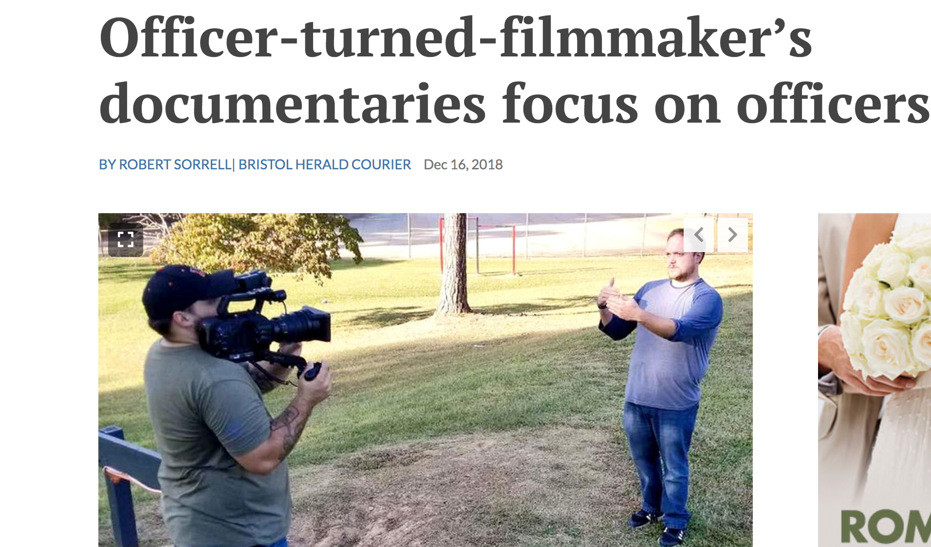 Officer-turned-filmmaker's documentaries focus on officers - Bristol Herald Courier