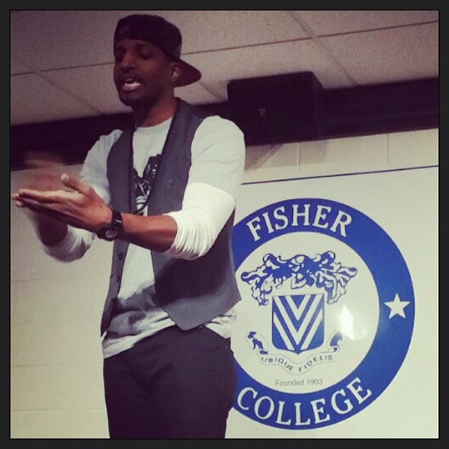 BIG S/O to @FisherCollege!! The show last night was AMAZING. The vibe was INCREDIBLE. The students were the COOLEST & Dr. Lisa is the BEST!!
